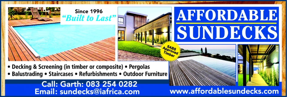 Affordable Sundecks, Durban contractor