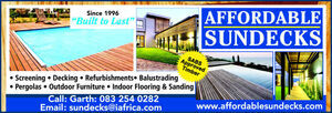 Affordable Sundecks, Durban