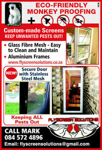 Flyscreen solutions, Durban