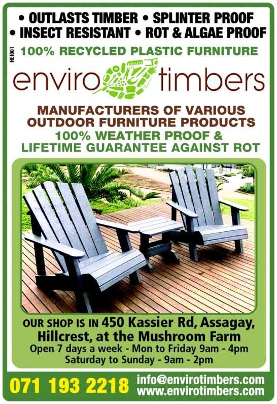 Enviro Timbers, 100% Recycled Plastic, Durban contractor