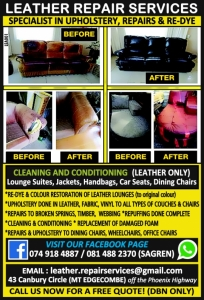 Leather Repair Services, Durban