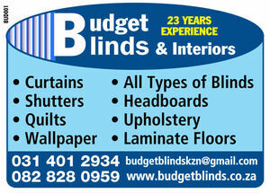 Budget Blinds & Interiors, Durban