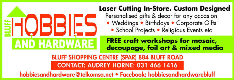 Bluff Hobbies and hardware, Durban contractor