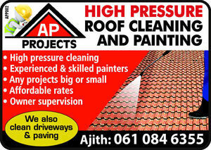 AP Projects | High Pressure Roof Cleaning & Painting