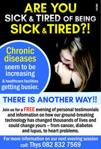Are you sick and tied of being sick & tired?