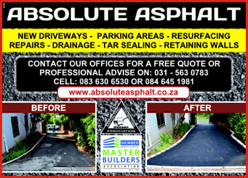Absolute Asphalt, Durban contractor