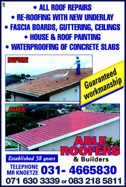Able Roofers & Builders, Durban contractor